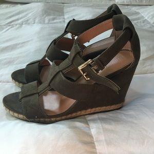Target Merona Olive Green Wedge Sandals